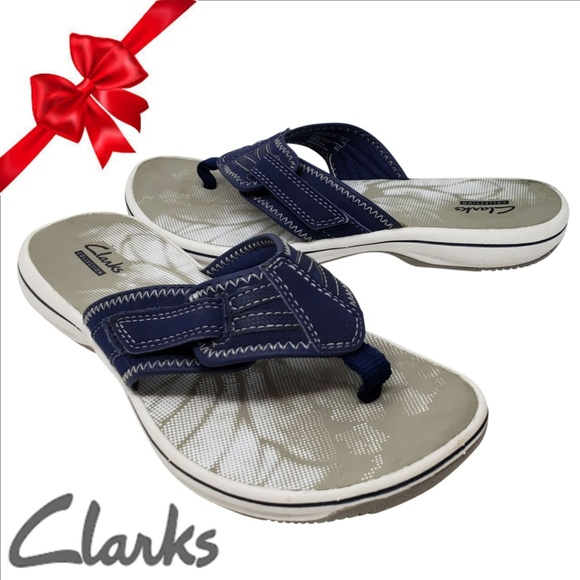 1e143019bd74 Clarks Shoes - CLARKS Breeze Sea  15906 Women s Size 7 Navy Blue